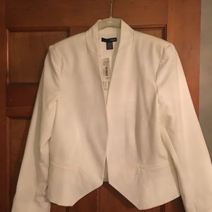 NWT Aqua Blazer from Bloomingdales Size Ivory